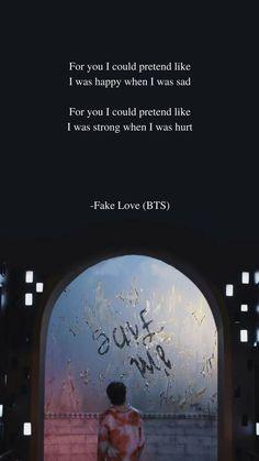 Fake Love by BTS Lyrics wallpaper #lyrics #wallpaper