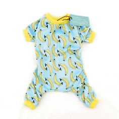 CuteBone Dog Pajamas Banana Dog Apparel Dog Jumpsuit Pet Clothes Onesie Pajamas -- Trust me, this is great! Click the image.
