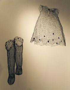 Precious wire stockings and dress: Lynn Jackson