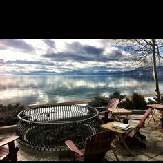 View from the restaurant at The Hyatt Regency Hotel in Incline Village, Lake Tahoe!!