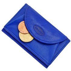 Branco Mini Herren Leder Geldbörse Portemonnaie Börse GB (Blau)