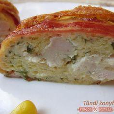 Baconos csirkemell őzgerincben sütve