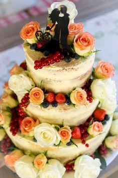 Frau Zuckerfee: Naked cake | Anleitung Hochzeitstorte selber machen