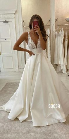Rustic Wedding Dresses, Wedding Dress Trends, Best Wedding Dresses, Princess Wedding Dresses, Wedding Ideas, Backless Wedding Dresses, White Prom Dresses, Wedding Bride, White Wedding Dresses