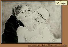 Dessin au crayon portrait mariage. Samos17 portraitiste sur commande 😉😉 www.samos17.fr #drawing #portait #art #pencil #amazing #draw