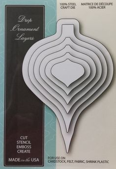 99225 Memory Box 100% Steel Craft Die Drop Ornament Layers