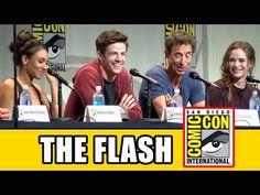 The Flash Comic Con Panel - Season 2, Grant Gustin, Candice Patton, Danielle Panabaker - YouTube