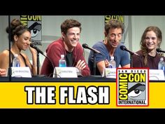 The Flash Comic Con Panel - Season 2, Grant Gustin, Candice Patton, Danielle Panabaker - YouTube