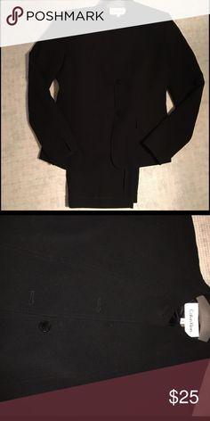 Calvin Klein suit Classic Mandarin collar pantsuit                                               1 button missing on jacket Calvin Klein Jackets & Coats Blazers