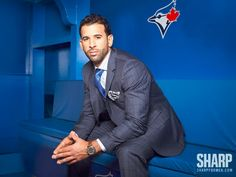 From the archives: Our photoshoot with Blue Jays GOAT Jose Bautista. MLB's home run king goes full tilt on coming out of nowhere, leading the young Jays and silencing the doubters. Mlb Players, Baseball Players, Epic Beard, Tampa Bay Rays, Toronto Blue Jays, Attractive Men, Beautiful Men, Beautiful People, Boys