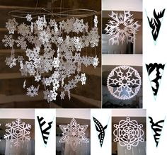10 Amazing Decoration Ideas Using Paper Snowflakes  - http://www.amazinginteriordesign.com/10-amazing-decoration-ideas-using-paper-snowflakes/