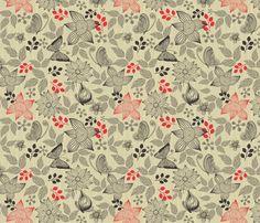 butterflies and flowers fabric by anastasiia-ku on Spoonflower - custom fabric