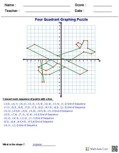 Math Aids ...Graphing Worksheets plus more