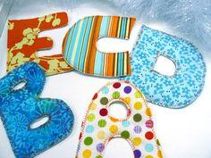 Tuto : des lettres en tissu pour les enfants
