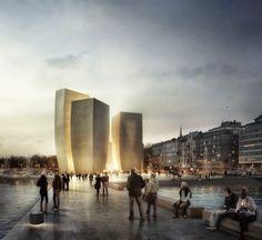 Design Hub - блог о дизайне интерьера и архитектуре: 6 финальных проектов музея Гуггенхайма в Хельсинки