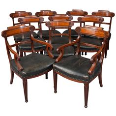 1stdibs | Wonderful set of 10 (8+2) Regency period dining chairs