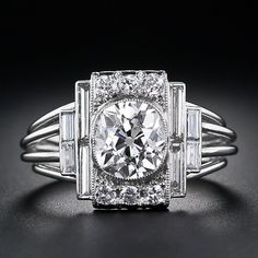 A Dazzling 1.60 Carat Antique Cushion-cut Diamond Ring - Click for More...