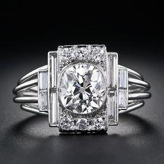 A Dazzling 1.60 Carat Antique Cushion-cut Diamond Ring