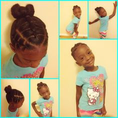 Cute toddler hairstyles / little girls hairstyles / black little girls hairstyles/ bow/ ponytail/ toddler/ girls