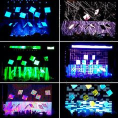 Stage lighting design for Radiohead