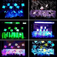 Stage lighting design for Radiohead