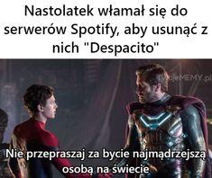 Very Funny Memes, True Memes, Polish Memes, Funny Mems, Some Quotes, Pranks, Bts Memes, Haha, Avengers