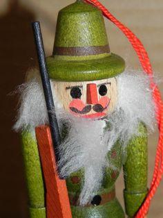 Handmade Wood Miniature HUNTER Nutcracker by baublesandblingforu, $10.00
