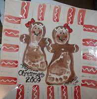 Footprint Gingerbread girl