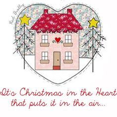 Christmas Redwork Embroidery Ornament