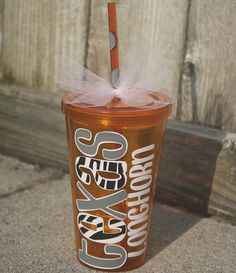 Texas Longhorn Tumbler  Orange/Grey/Zebra by KarahBCreations, $10.00 ❤