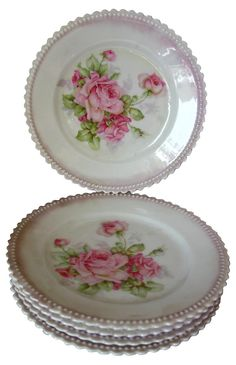Check out this item at One Kings Lane! Decorative Plates, Porcelain, Kings Lane, Snacks, Dishes, Rose, Tableware, Vintage, Spotlight