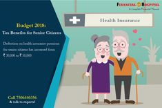 Here's a tax benefit for Senior Citizens after the Union Budget 2018!  #UnionBudget2018 #Budget2018 #HealthInsurance