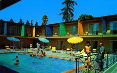 Summertime, Poolside! Hallmark House Hollywood California 1960s