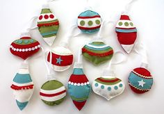 Just Enough Style: Felt Ornaments