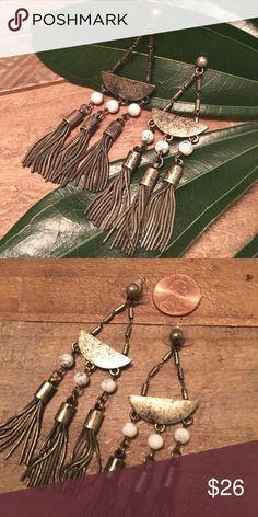 NWOT Gold Tassel Earrings. NWOT gold tone tassel earrings. Anthropologie Jewelry Earrings