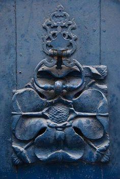 Blue weathered door