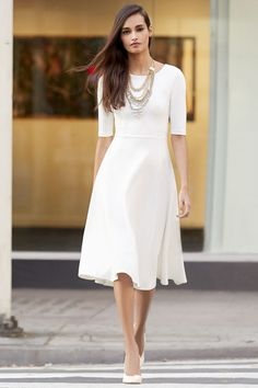 Having a Shindig Ivory Midi Dress at Lulus.com! Party dress for the wedding? Or add some color and wear it to church?