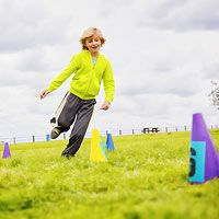 Get Active: A Memory Game on the Move! This fast-paced fitness game, based on a simple sprinting drill, gets kids exercising bodies and minds.