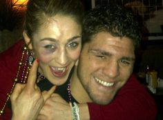 Marloes Coenen and Nick Diaz are party animals. Seriously, they are. This was taken at 3:00 am.