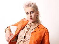 MuLLeT PhoTOShoOT Red Leather, Leather Jacket, Mullets, Raincoat, Photoshoot, Jackets, Life, Fashion, Studded Leather Jacket