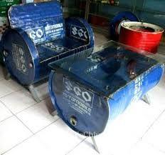Resultado de imagem para 55 gallon plastic barrel furniture uses