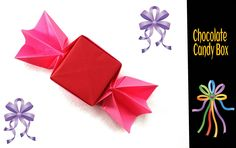 Origami Paper - Chocolate Candy Box .
