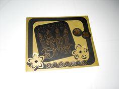 #Card #auguri #Buon #compleanno, in versione maschile, realizzato a mano con la tecnica dello    #Scrapbooking