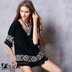 Cheap shirt baby, Buy Quality shirt barcelona directly from China shirt camouflage Suppliers: Artka Women's 2016 New Spring Ethnic Embroidered Boho Fashion V-neck Half Sleeve Blouse All-match Ladies Shirt SA15065C