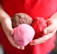 Valentine's Day Homemade Play Dough Scented Play Dough by @Cristen Nelson MacInnis #dteam #childrens #educational