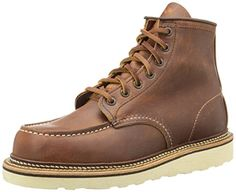 Red Wing Heritage Men's Classic 1907 6-Inch Moc Toe Boot,Copper Rough & Tough,11 D US - http://authenticboots.com/red-wing-heritage-mens-classic-1907-6-inch-moc-toe-bootcopper-rough-tough11-d-us/