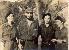 En la Sierra con Vilma Espín, Raúl Castro y Celia Sánchez
