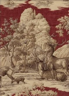 Love the deer fabric too!