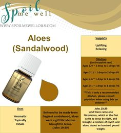 Aloes Sandalwood Essential Oil, Oils of Ancient Scripture, Oils of the Bible, John 19:39, Young Living, dilution ratios