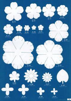 Шаблоны для цветов из фоамирана – 40 фотографий